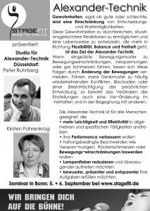 Alexandertechnik-Workshop in Bonn!