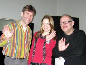 Mit den Kollegen Mareile Schlüter und Bernhard Hofmann
